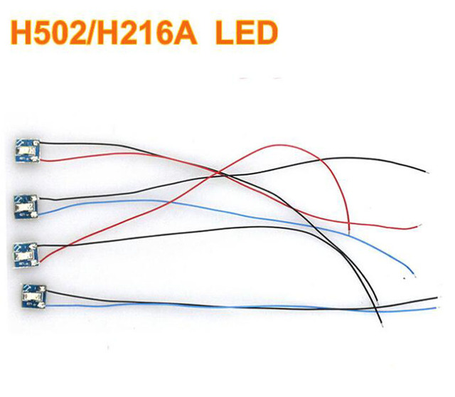 4pcs fr hubsan h502s h502e h216a quadcopter drone led kit led light module  fpv rc plane replacement parts night flight navigate