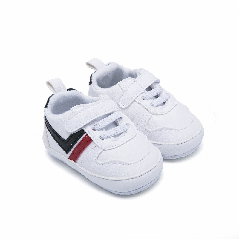 Kids Baby Boys Breathable Striped Print Anti-Slip Shoes Sneakers Soft Soled Walking Shoes First Walkers