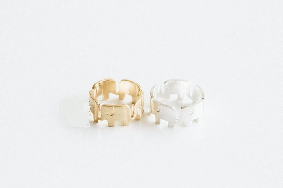 Elephant Cute Rings For Women