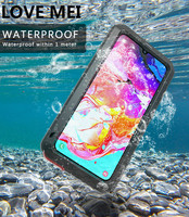 Love Mei Powerful Case For Samsung Galaxy A70 Shock Dirt Proof Water Metal Armor Cover Phone Case for Samsung Galaxy A70 Cases