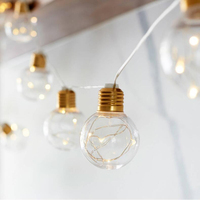 Meaningsfull G45 4M 10Bulbs LED Clear Globe String Lights Garland String Fairy Lights for Wedding Garden Party Home Anniversary