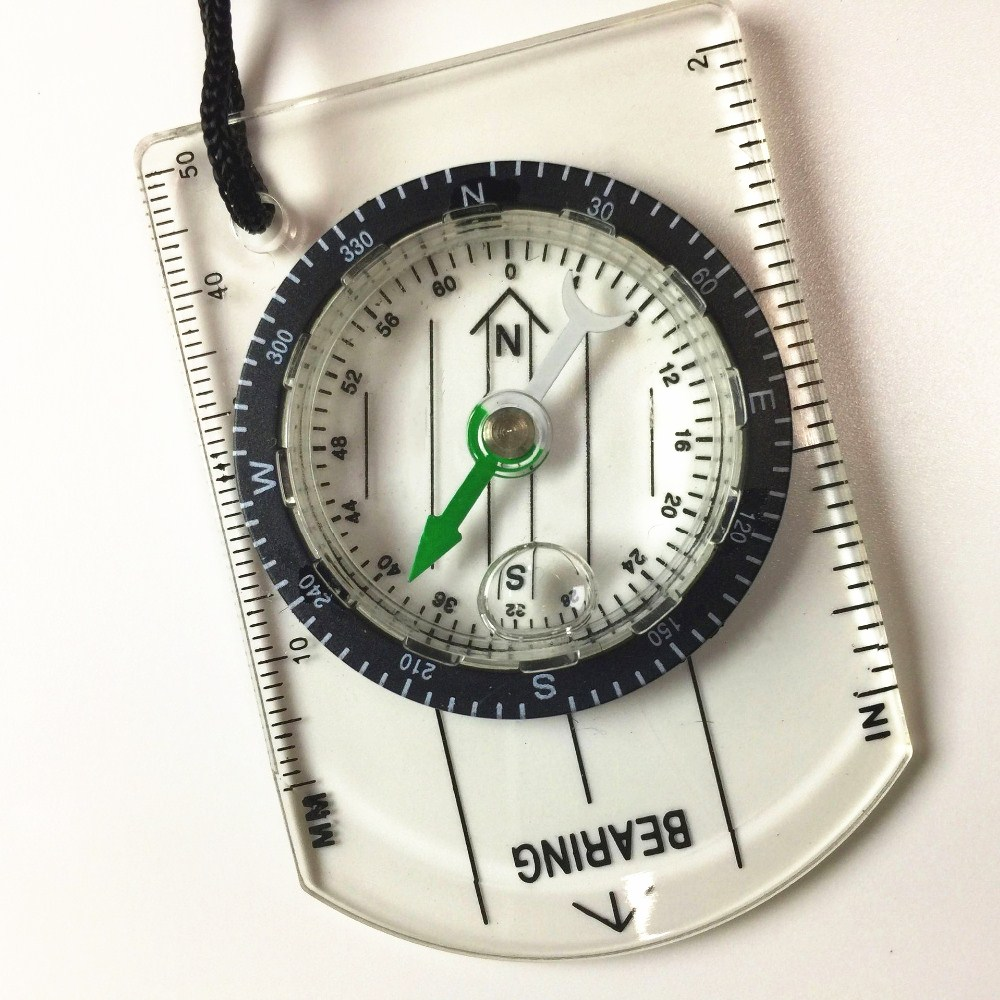 Professional Mini Compass Map Scale Ruler Outdoors Survival