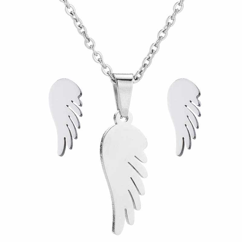 Hfarich Feather Necklace Women Stainless Steel Neckla Pendant Chain Jewelry for Women Choker Female Jewelry Neckless Beauty Gift