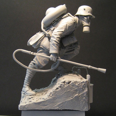 1/16 World War II Masked Soldiers Soldier Figures Resin Model Kit