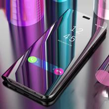 For Xiaomi Mi 8 SE 6 6X A2 5X 5C MIX2 note 3 Mirror View Clear Flip Cover Case For redmi note 5 5A 4X 5 Plus redmi S2 Stand Case