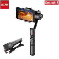 Zhiyun Smooth 3 Aluminum 3 Axis Handheld Smartphone Gimbal Stabilizer for iPhone XS Max X 8Plus 8 7Plus 7 6 Samsung S9+ S9 S8 S7