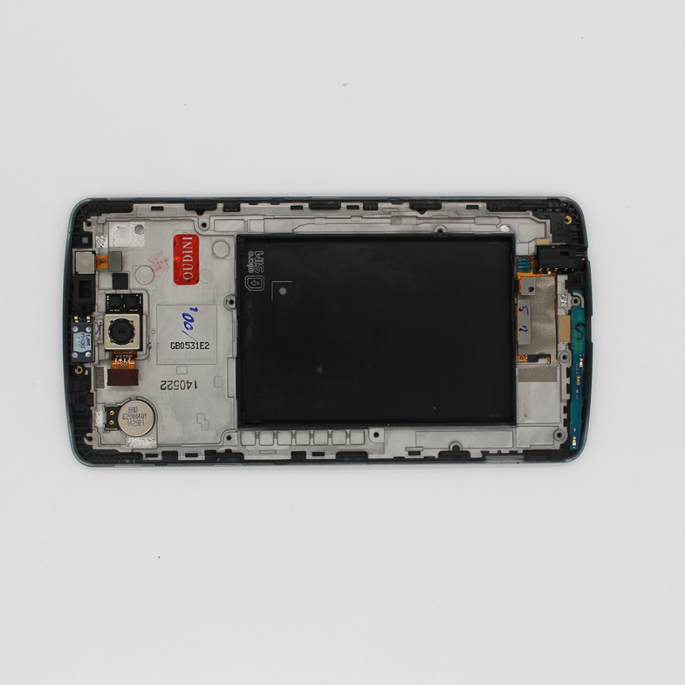 oudini 100 % Original for <font><b>LG</b></font> <font><b>G3</b></font> LCD Touch <font><b>Screen</b></font> Digitizer with Frame Replacement Original D850 D851 D855 lcd Have a camera image