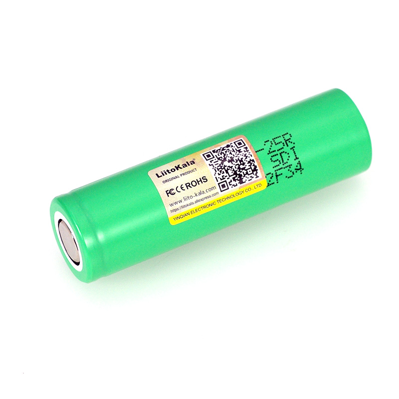 Image 2 - LiitoKala  18650 2500mAh Rechargeable Battery INR1865025R 3.6V discharge 20A dedicated For E cigarette batteries-in Replacement Batteries from Consumer Electronics