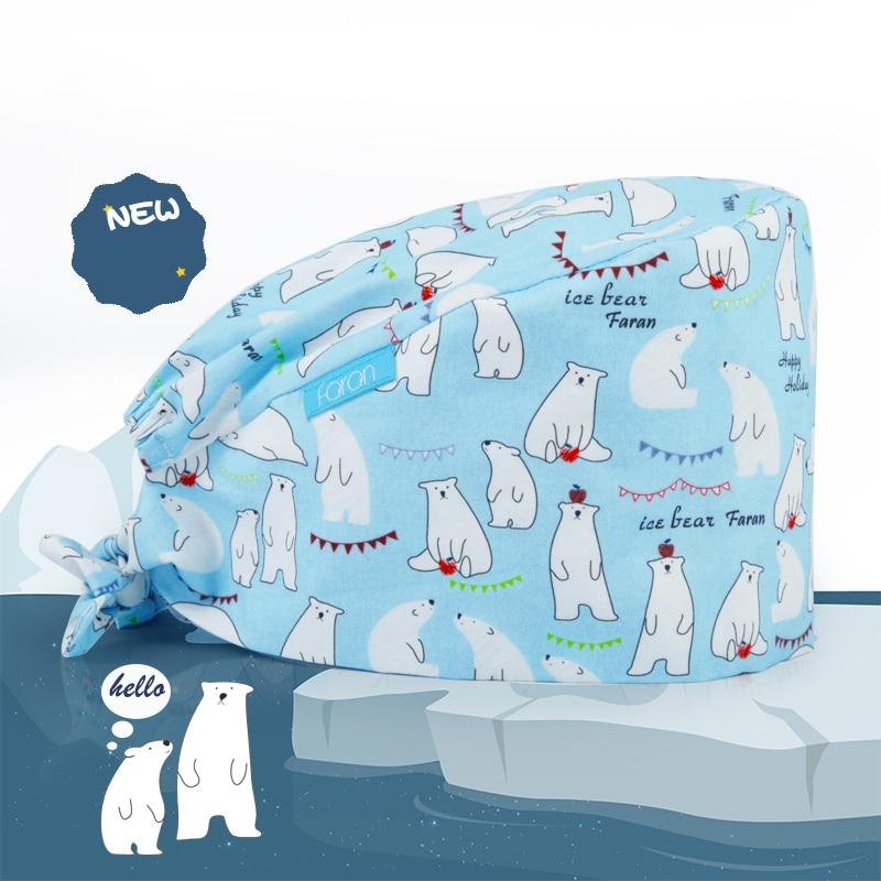 Aliexpress.com : Buy Polar Bear Unisex Surgical Cap Nurse ...