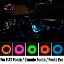 9 Meter EL Wire For Fiat Punto / Grande Punto / Punto Evo / Car Interior Romantic Atmosphere Lamp / Decoration Cold Light Line