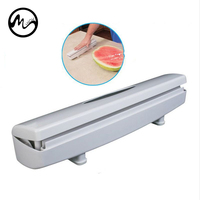1Pc Kitchen Plastic Food Cling Wrap Foil Dispenser Cutter Preservative Film Tool Kitchen Gadgets