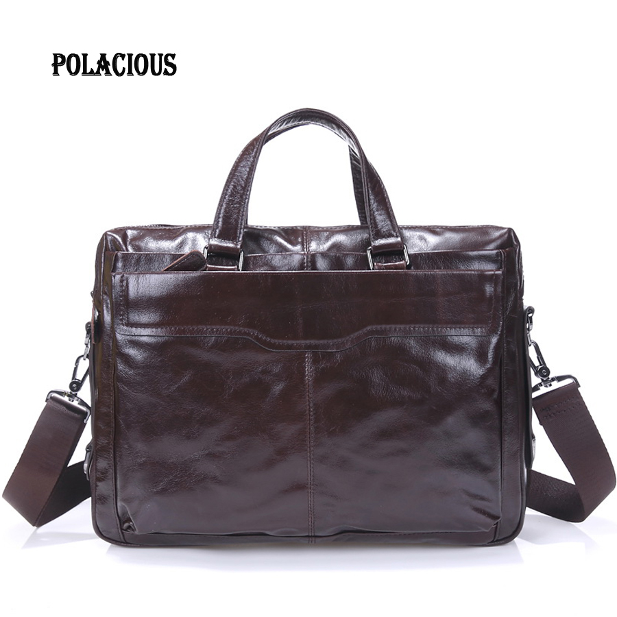 2016 Fashion new Genuine Leather Men Briefcase Man Bags Business Laptop Tote Bag Men's Crossbody Shoulder Bag Men's Travel Ba