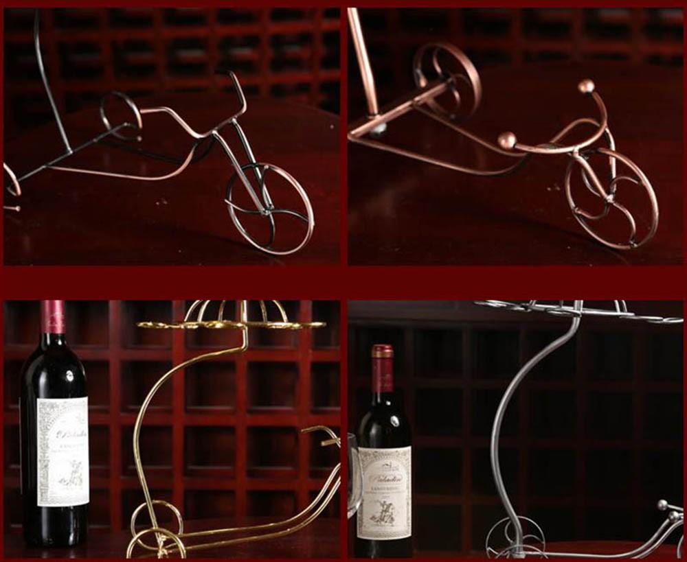 Decorative Racks Wine Bottle Holder Hanging Upside Down Cup Goblets Display Rack Iron Wine Stand Arts Design KC1283 (7)