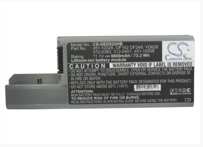 Cameron Sino 6600 Mah Batterij Voor Dell Latitude D531 D820 Precisie M65 Dell 312-0393 451-10309 Cf711 Df249 F192 Modern En Elegant In Mode