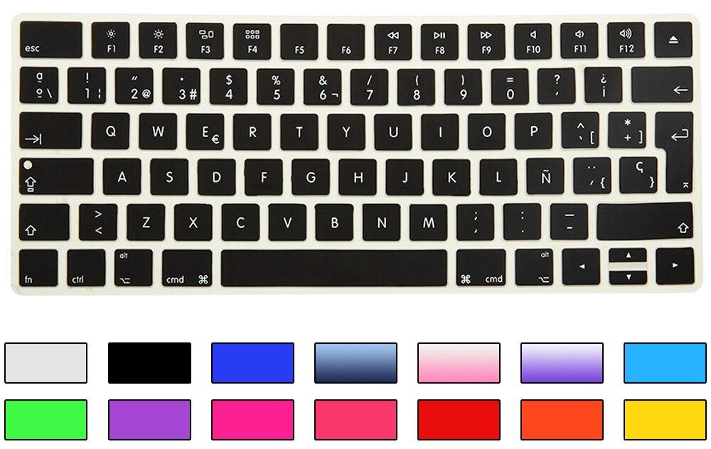 HRH Slim ESP Ispanijos klaviatūros viršelis Silikoninė oda Apple - Nešiojamų kompiuterių priedai - Nuotrauka 4