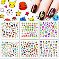 ZKO 1 Sheet 31 Styles Optional 2018 New Arrival DIY Nail Sticker Water Transfer Cartoon Design Tips Nail Beauty Nails Decal