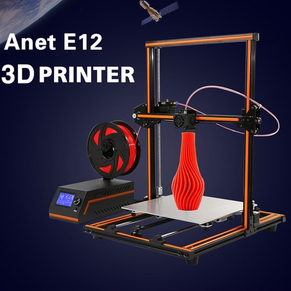Anet E12 Haute-Précision 3D Imprimante Haute Performance Écran lcd Machine D'impression Grande Taille D'impression 300X300 X 400mm UE Plug