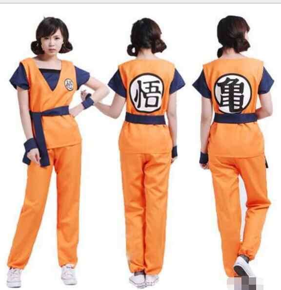 New Dragon Ball Z Goku Cosplay Kostum Dragon Ball Z Mewah Gaun Ukuran M-XXL Footcover Dragon Ball Z Wig