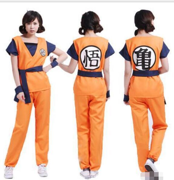 New Dragon Ball Z Goku Cosplay Costume Dragonball Z Fancy Dress Size M-XXL footcover dragonball z wigs