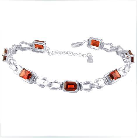 Real Qi Xuan_Free Shipping Dark Red Stone Elegant Bracelets_S925 Solid Silver Fashion Bracelets_Manufacturer Directly Sales nokia 230 dark silver