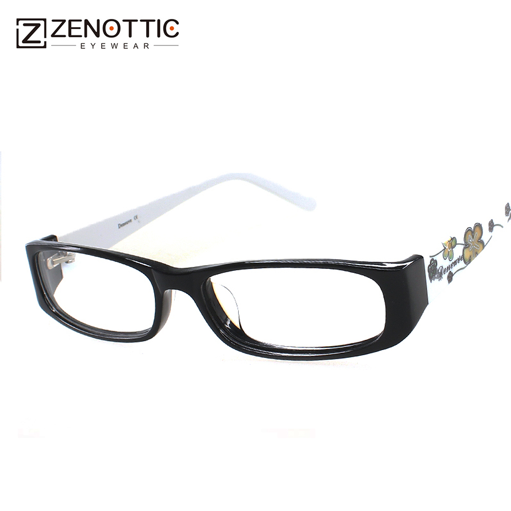 2018 ZENOTTIC yeni dizaynlı xanım moda üslubu asetat tam rim optik çərçivəli gözlüklər resept linzası DN202 özelleştirilebilir