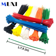 50Pcs/pack 3*200 High Quality width 2.5mm White BLack Self-locking Plastic Nylon Cable Ties,Wire Zip Tie стоимость