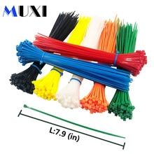 50Pcs/pack 3*200 High Quality width 2.5mm White BLack Self-locking Plastic Nylon Cable Ties,Wire Zip Tie цена и фото