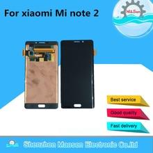"""M & Sen Für 5,7 """"xiaomi hinweis 2 Mi note 2 LCD display + touch panel digitizer Schwarz/silber grau kostenloser versand"""