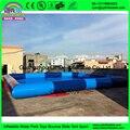Надувной бассейн для воды парк пвх пластик синего цвета над землей портативный воды гуляя бассейн