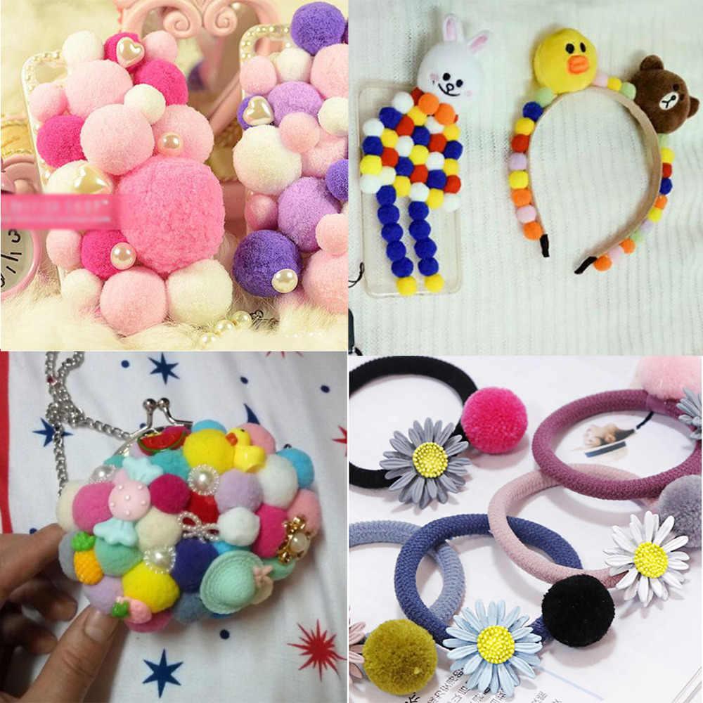 300 pçs/lote 10mm Macio Bolas De Pelúcia Pele Pom Pom Pom Poms Para Festa de Casamento Decoração de Artesanato para Crianças Brinquedos DIY acessórios de costura