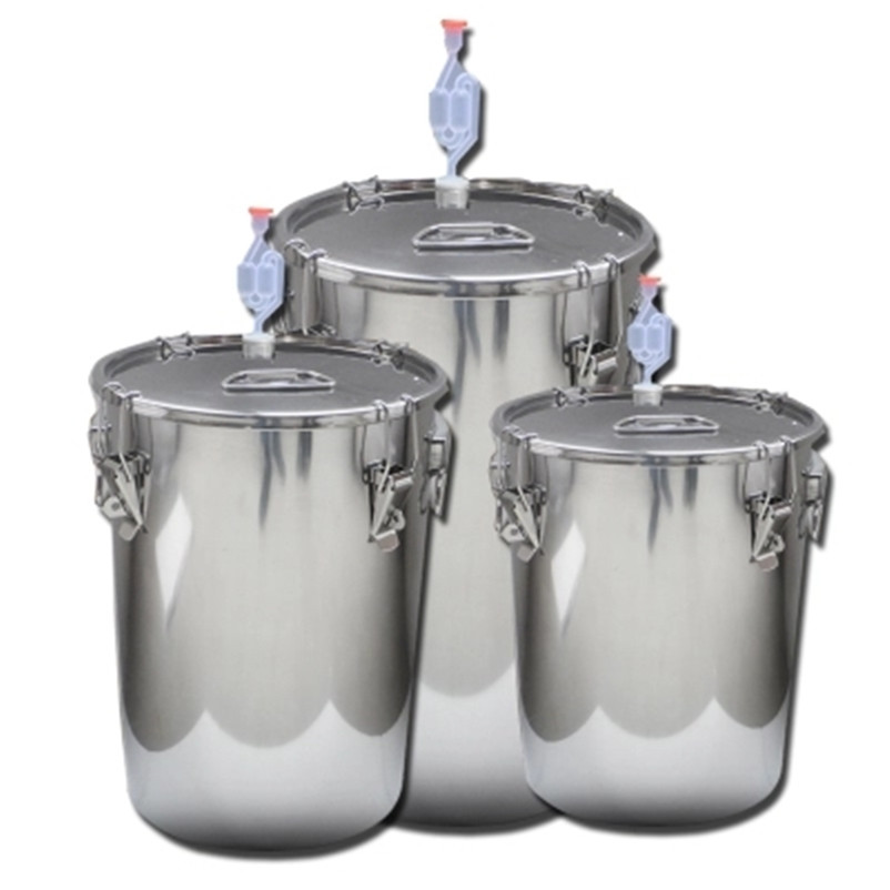 XMT-HOME 20L thermostatic brewing alcohol wine making bucket hydraulic seals water sealed fermentation fermented tank 1pc