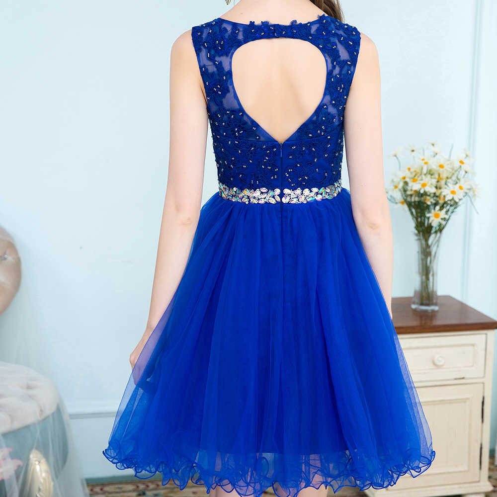 Detail Feedback Questions about Short Blue Tulle Homecoming Dresses ...
