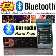 new 12V Car radio Stereo bluetooth FM recieve car Radios MP3 Audio Player USB SD MMC Port Car radio bluetooth In-Dash 1 DIN size