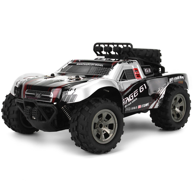 2.4G Wireless Remote Control Toy RC Off-Road Car 1:18 Monster Desert Truck 18km/H Drift 4-Channels RC Car RTR Toy Gift
