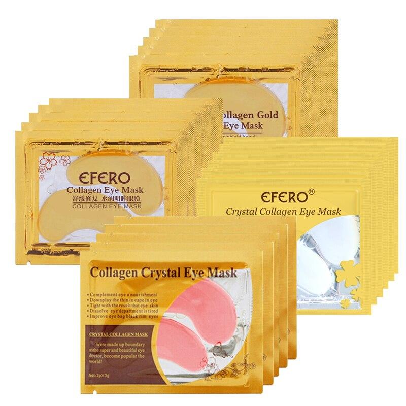 efero Anti-Aging Gold Mask Face Masks Crystal Collagen Eye Mask Eye Patches Under the Eye Mask Dark Circle Anti-Puffiness Cream 1