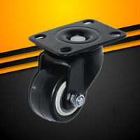 4Pcs 1 5Inch Durable PVC Furniture Casters 360 Degree Swivel Caster Mute For Office Computer Chair