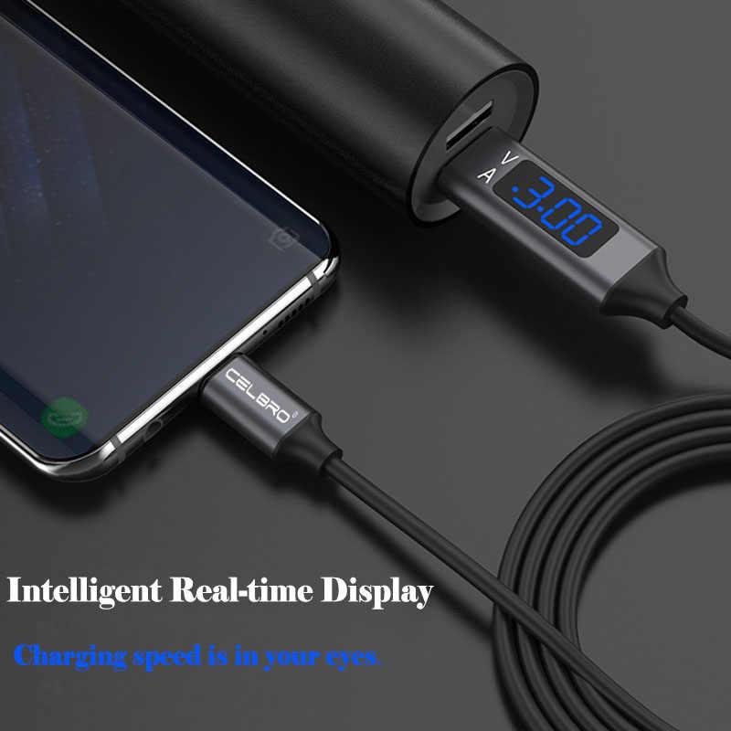 أدى عرض المصغّر usb نوع C سريع كابل شحن سريعة تهمة 3.0 Usbc سلك Microusb ل Xiaomi Mi9 Redmi ملاحظة 7 6 برو شاحن الهاتف