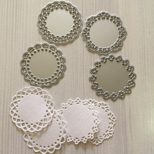 Estel Lace Edge Circle Frame 4Pcs Metal Cutting Die Stencils for DIY Scrapbooking album Decorative Embossing Hand-on Paper Cards