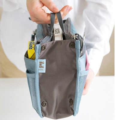 UOSC organizator torba kobiety Nylon podróż wstaw organizator torebki kiesy duża wkładka Lady makijaż kosmetyczne torba tanie kobiet dużego ciężaru