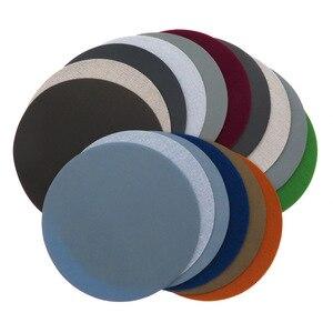 Image 2 - 20 piezas discos de lijado impermeables de carburo de silicio, gancho y bucle de 5 pulgadas (125mm) para papel de lija abrasivo redondo húmedo/seco