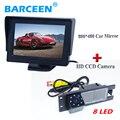 """4.3 """"tela lcd monitor do carro + câmera de visão traseira do carro 8 levou para Opel Astra H/Corsa D/Meriva A/Vectra C/Zafira B/FIAT"""