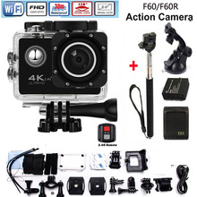 4K Wifi Action Camera F60 4K/30fps 1080P/60fps 720P/120fps 2.0″ 170D Helmet Cam Mini Camera Waterproof Action Camera