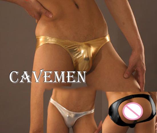 Leatherwear nádegas calças * 1744 * sexy lingerie t-voltar thong g-corda t calças dos homens breve underwear frete grátis
