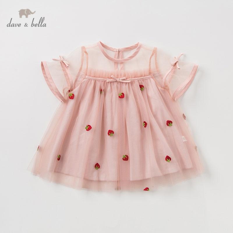 64c29d57ab7d3 DBM10422 dave bella summer baby girl's princess cute floral dress children  party wedding dress kids infant lolital clothes