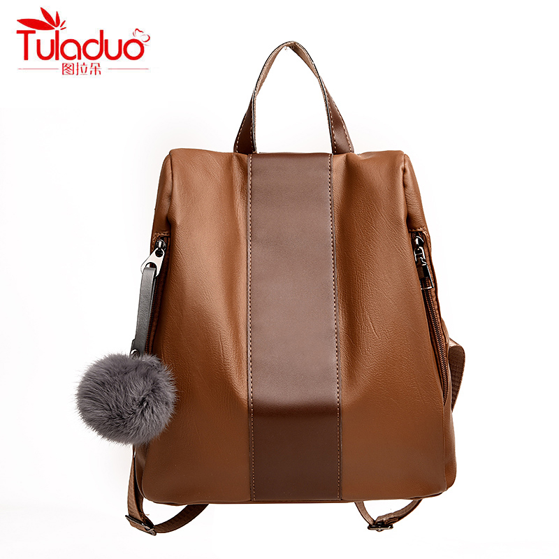 High Quality PU Leather Women Backpack Famous Designer Brand Women Backpacks Patchwork School Bags For Teenage Girls Rucksack high quality pu leather backpack women bag fashion solid backpacks school bags famous brand travel backpack 2017 new shell bags
