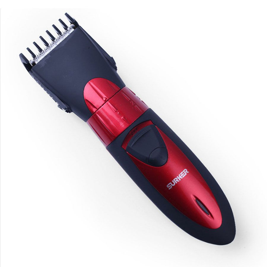 SURKER Professional family Electric Hair Clipper Rechargeable waterproof Red Trimmer Adjustable Haircut Machine For Men & women surker model rfc 688b electric foil hair trimmer for men with clean