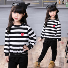 JENYA Childrens clothing female child spring and autumn set 2017 fashion casual baby sports twinset  little girl clothes
