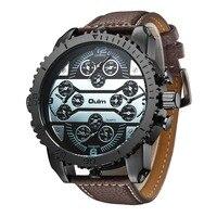 Oulm Big Unique Designer Watches Men Sports Quality Japan Movt Quartz Gifts Wristwatch Vintage Watch Relogios