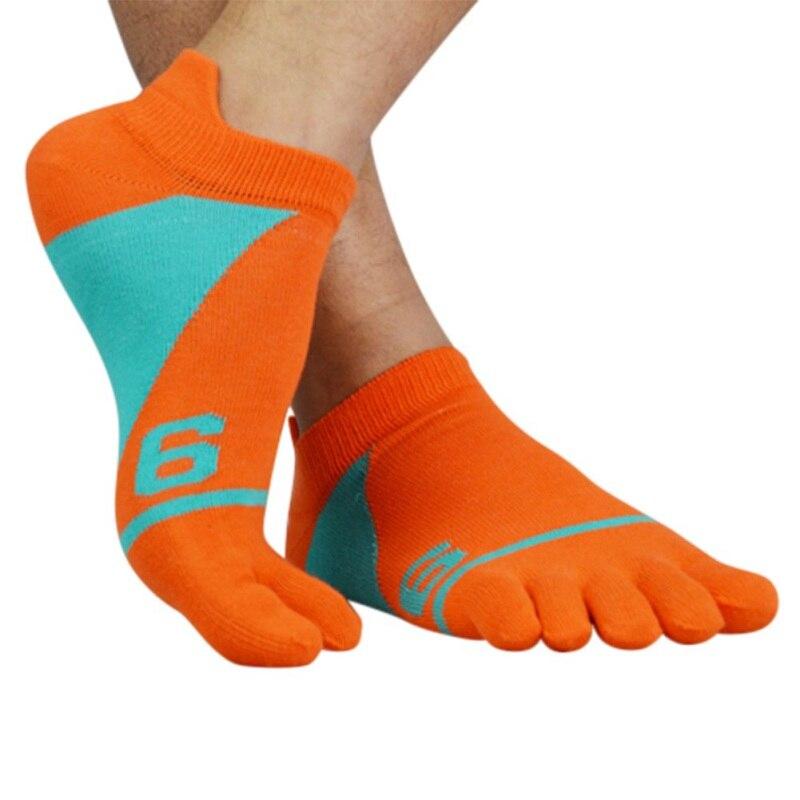Male Soft Cycling Fishing Yoga Basketball Running Sport Toe Socks Breathable Ankle Socks Mens Socks Cotton Five Finger Socks