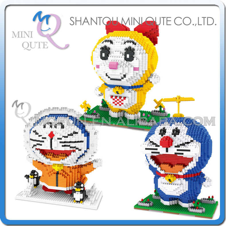 Mini Qute ZMS Anime cartoon kawaii Doraemon Dorami kids boys girls gift building blocks action figure model educational toy